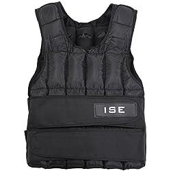 ISE Gilet lesté réglable de 5kg 10kg 15kg 20kg 25kg 30kg Poids Gilets pour Poids Entrainement Musculation Exercice SY3002 (15)