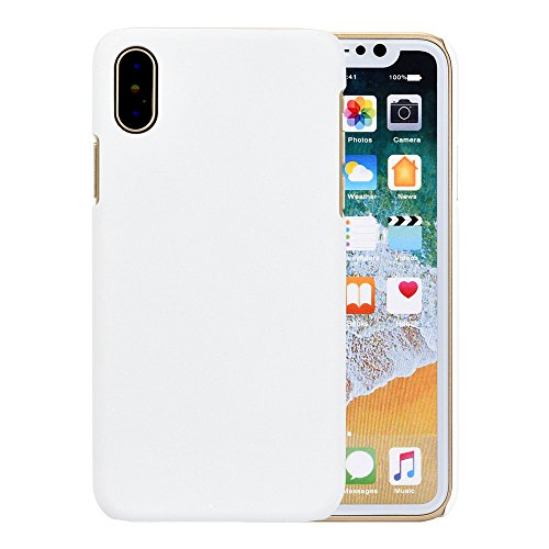 Ouneed® Für Iphone X Hülle , Ultra-thin Luxury Hard PC Back Case Cover für Iphone X (Rosa) Weiß
