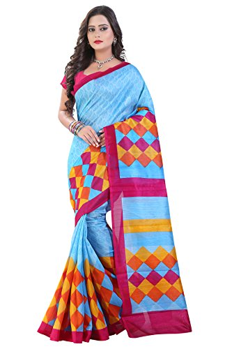 Glory Sarees Cotton Saree (Saree1_Blue)
