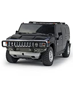 Shoppers Zone hummer h2 suv remote control 1:24(black)
