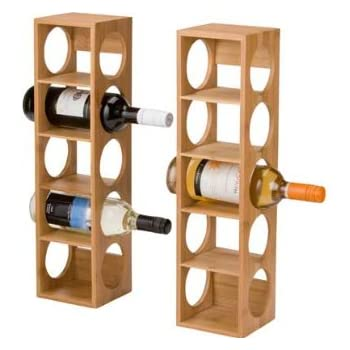 10 bottle bamboo wine rack kitchen home - Wine rack for small spaces property ...
