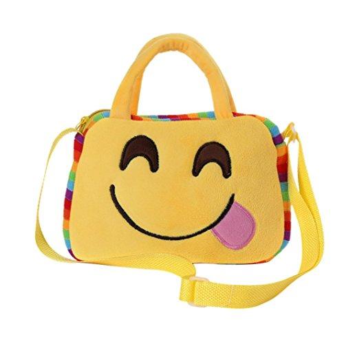 Imagen de goodsatar goodsatar lindo emoji emoticono escuela de hombro bolso del niño  bolsa bolso de la  g1
