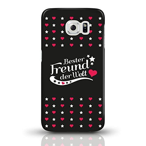 """JUNIWORDS Handyhüllen Slim Case für Samsung Galaxy S6 mit Schriftzug """"Bester Freund der Welt"""" - ideales Weihnachtsgeschenk für den Freund - Motiv 4 - Handyhülle, Handycase, Handyschale, Schutzhülle fü motiv 3"""