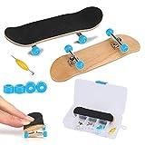 Skateboard Finger da Dito, Mini Lega Professionale in Acero di Legno Completo con Scatola per ridurre i Regali per Bambini(Blu Chiaro)