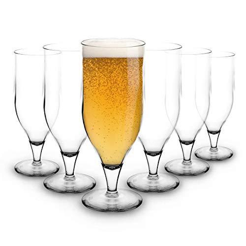 RB Irrompible Copa de Cerveza Vasos Nucleadas Premium 33cl, Conjunto de 6