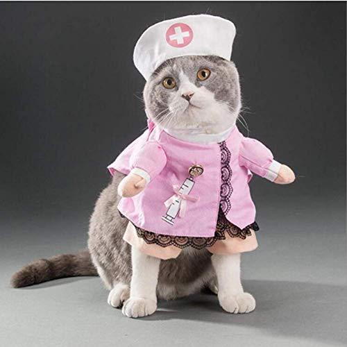 Clothes Für Haustiere Katze Kostüm-Outfit Shawl Fancy Dress Bekleidung T Shirt Baumwolle - 4 - M ()