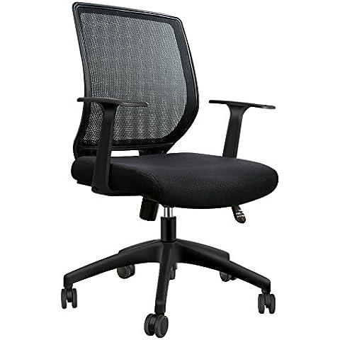 IntimaTe WM Heart Silla de oficina de malla diseño moderno, silla de escritorio ergonómica, negro