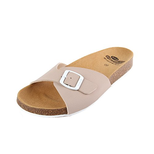 Scholl Spikey SS 4 Beige White Synthetic Nubuck Beige