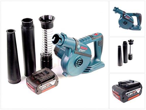Bosch GBL 18 V-120 Akku Gebläse Laubbläser mit 1 x Bosch GBA 18 V 5,0 Ah Akku