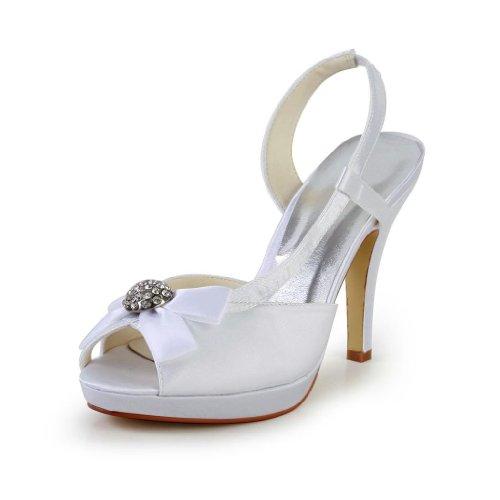 Jia Jia Wedding 37045 Scarpe Sposa Scarpe col tacco donna Bianco