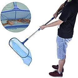 CampHiking Piscine Feuille de Nettoyage Net Écumoire + Perche télescopique Amovible pour Spa Mare