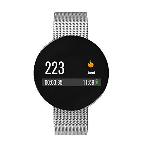 Altsommer Bluetooth Smart Watch mit Sitzende Erinnerung,Blutdruck-Test Smart Uhr, Smart Watch mit Fitness Tracker Herzfrequenz,Intelligent Armbanduhr für Android, IOS Silver (Silver)