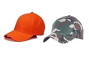 9444cf9335 ALAMOS Combo Awesome Orange   Military Cotton Baseball Caps  Amazon ...
