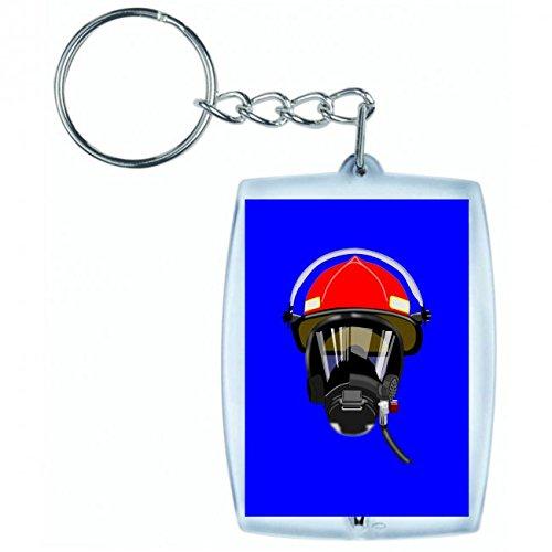 """Schlüsselanhänger \""""VERSCHNAUFPAUSE- VERTEIDIGUNG- FEUERWEHRMANN- HELM- INHALATOR- MASKE- BEATMUNGSGERÄT\"""" in Blau   Keyring - Taschenanhänger - Rucksackanhänger - Schlüsselring"""