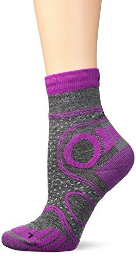 EIGHT SOX Trekkingsocken Backpacking Merino, Grey/Purple, 3, 88 820005
