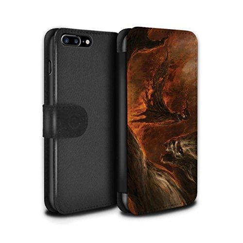 Offiziell Chris Cold PU-Leder Hülle/Case/Tasche/Cover für Apple iPhone 8 Plus / Pack 10pcs Muster / Dunkle Kunst Dämon Kollektion Der Anrufer
