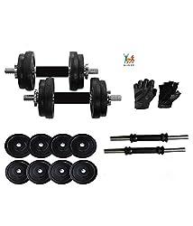 Bodyfit Home Gym Adjustable Dumbells 20 Kg