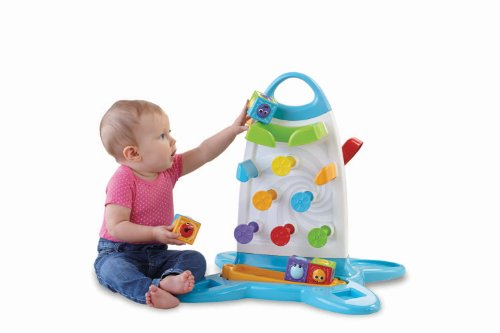 Image of Fisher Price Electronic Baby Toy - Roller Blocks Play Wall Toddler Education Develops Motor Skills
