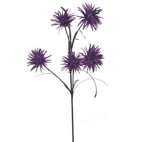 Phoenix Kunstblumen aus Seide mit Stiel, 5 Spitzen und Verstellbarer Stiel hochwertige Homestreet Flowers violett -