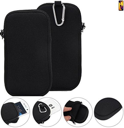 K-S-Trade Neopren Hülle für Huawei P20 Lite Dual-SIM Schutzhülle Neoprenhülle Sleeve Handyhülle Schutz Hülle Handy Gürtel Tasche Case Handytasche schwarz