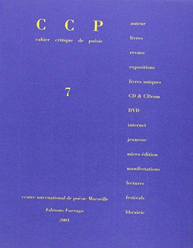 Cahier critique, numéro 7 : Dossier spéciale Jean-François Bory