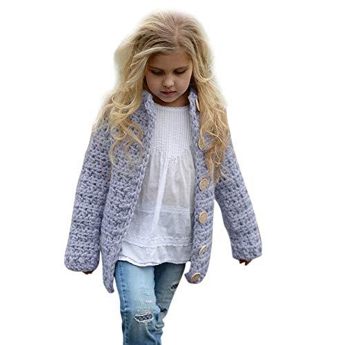 OSYARD Baby Mantel Strickpullover Cardigan,Kleinkind Kinder Mädchen Outfit -