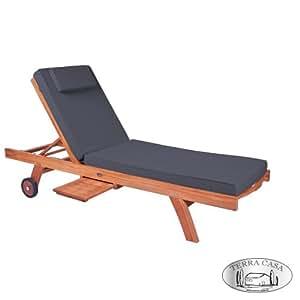 auflage f r gartenliege liegenauflage tambun eco 200 cm grau anthrazit f r. Black Bedroom Furniture Sets. Home Design Ideas