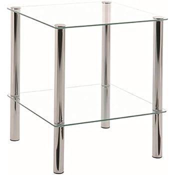 Beistelltisch aus Glas Größe M: Amazon.de: Küche & Haushalt
