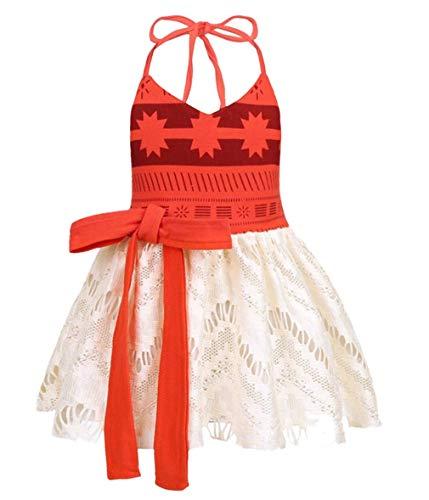 AmzBarley Moana Kostüm Kleid Kinder Mädchen Abenteuer Outfit Cosplay Kleidung Prinzessin Kleider Rock Gesetzt Halloween Karneval Verrücktes Kleid Geburtstag Party Ankleiden