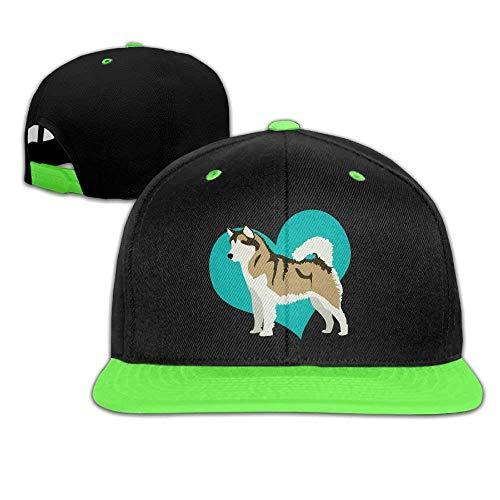 Cowboy Dallas Für Jungen Kostüm - UUONLY Hip Hop Baseballmützen Blue Heart Dog Trucker Flat Hat für Jungen Mädchen