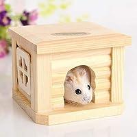 AntCompany Solo para Mascotas Encantadora Bastante Hermosa Moda Cómoda Mascota Techo Plano Casa de Madera Caseta