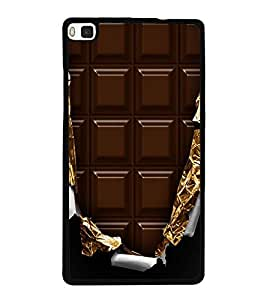 Chocolate 2D Hard Polycarbonate Designer Back Case Cover for Huawei P8