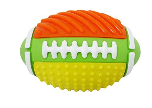 420 Rugby (Bubimex Fun Ball Rugby mit Glöckchen innen TPR für Hunde 10cm 266G)