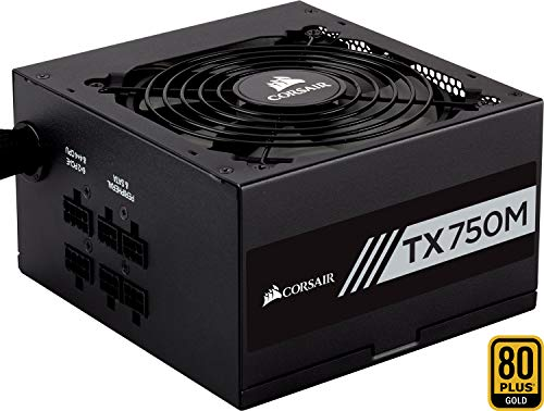 Corsair TX750M Alimentatore PC, Semi Modulare, 80 Plus Gold, 750 W, EU