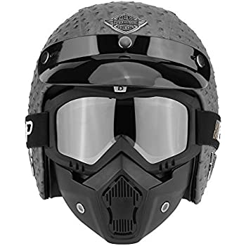 M XL Größe Motorcycle Helmet Matt Schwarz Schutz Motorrad-halber Sturzhelm Helm
