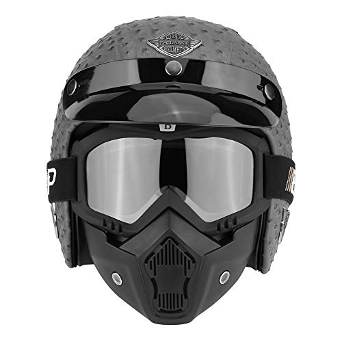 Casco de moto con gafas de protección universal
