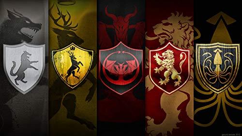 bubbleshirt Poster casade del Trono di Spade - Simboli Game of Thrones -...