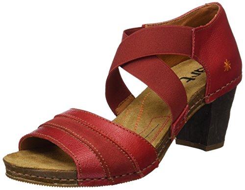 ART Damen 0148 Memphis I Meet Open Toe Sandalen, Rot (Carmin), 38 EU (Open 55 Toe Damen Schuhe)