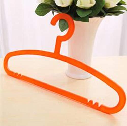 Compy Household Kleiderbügel verdickt tragbare dauerhafte Raumkinder multifunktionale Cartoon-Kunststoff-Wäscheständer, Orange