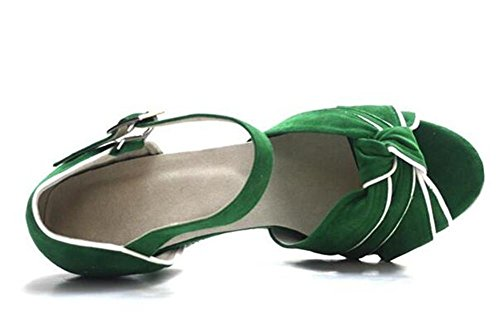 Scarpe da donna Velluto Sala da ballo latino Taogo Danza pompe sandali Taglia 35To41 8cm Heel