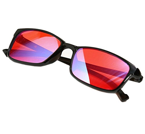 PILESTONE GM-2 farbenblinde gläser Color Blind Korrekturbrille für Rot/Grün Color Blind (Color Blind Brille) Starke Protan