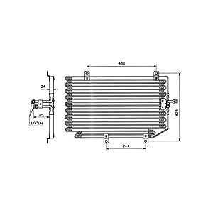 Condenseur, climatisation pour citroen jUMPY 6455HS -