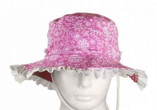 Sun Emporium Baby UV Kopfbedeckungen Mütze Kopfbedeckungen Hut Sommer, violett/weiß, XS, ()