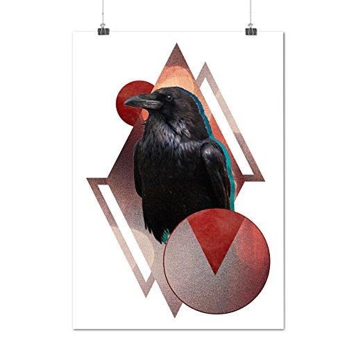 bird-wing-beak-wild-circle-crow-matte-glossy-poster-a3-42cm-x-30cm-wellcoda