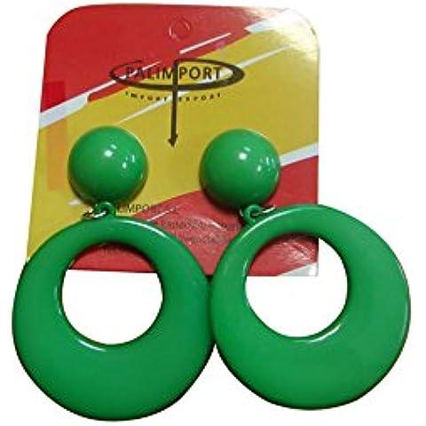 Pendientes de flamenca grandes en color verde