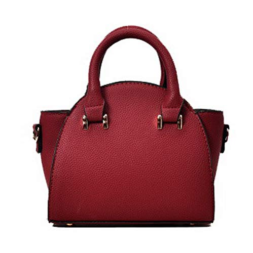 AgooLar Donna Luccichio Borse di tela cerniere Borse a tracolla,GMMBA220738,Rosso