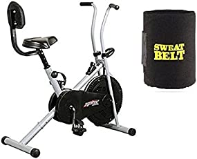 Exercise Cycle for Weight Loss at Home with Back Support || Air Bike 1001 with Bonus Sweat Belt for Home Use