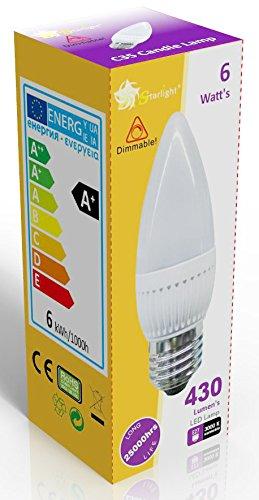 starlight-gu10-dimmable-led-ampoule-flamme-opaque-avec-culot-a-vis-e27-blanc-chaud-3000-k-equivalent