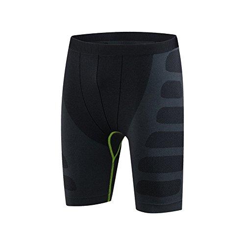 JUNQI Herren Sport Bodybuilding Kompression Jogging Laufen Fitness Thermal Strumpfhose Gym Skins Schwitzhose Training Aktiv Shorts M-XXL