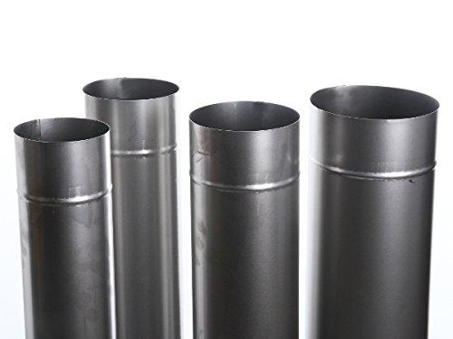 Unbekannt Kaminrohr Ofenrohr Rohr Heizung Rauchrohr 9 Größen 100cm Länge (Ofenrohr 160)